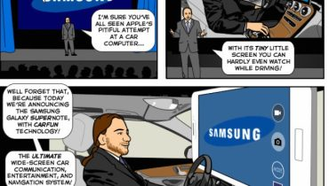 Humor: Her er Samsungs svar på Apples CarPlay