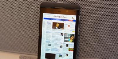 BlackBerrys browser er klart den hurtigste
