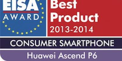 Huawei Ascend P6 – hædret med pris af EISA