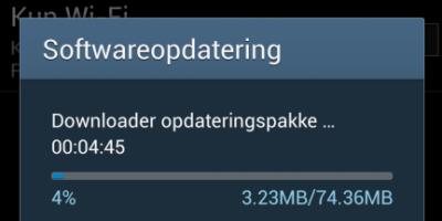 Galaxy S4 modtager den første opdatering