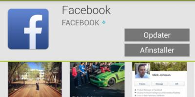 Facebook opdateret til Android – nu med klistermærker