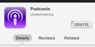 Apple klar med egen Podcast applikation