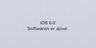 iOS 6.0 beta 1 – de første indtryk på iPhone 4S