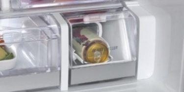 LG-køleskab køler en sodavand på fire minutter