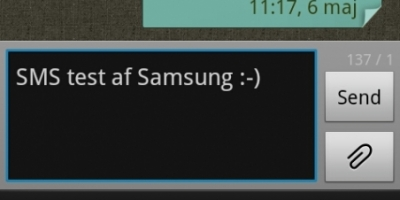 Sådan er SMS-funktionen i Galaxy S II