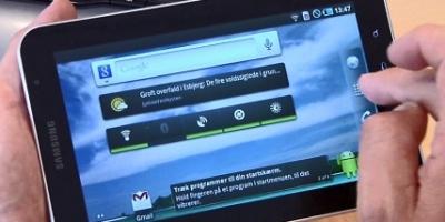 Sammenligning af Galaxy Tab og iPad