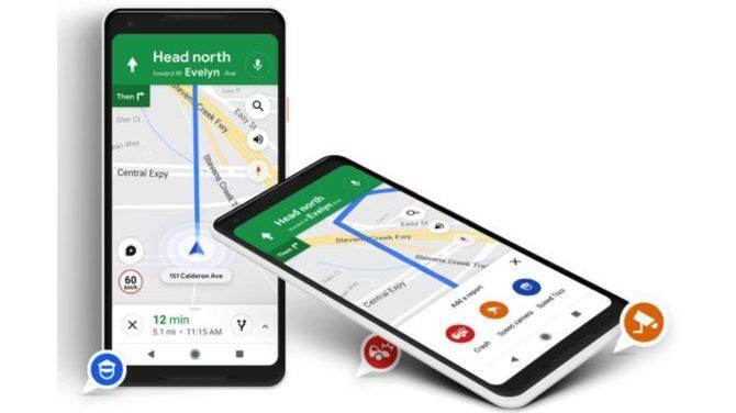 Trafikprop på Google Maps forårsaget af 99 mobiler