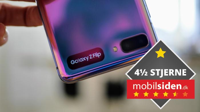 Samsung Galaxy Z Flip får 4,5 ud af 6 stjerner.
