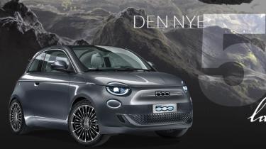 """Elbilen Fiat 500 """"La Prima"""" har hurtigopladning og Uconnect 5"""