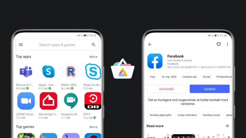 Download apps fra Google Play på Huawei-smartphones med Aurora Store