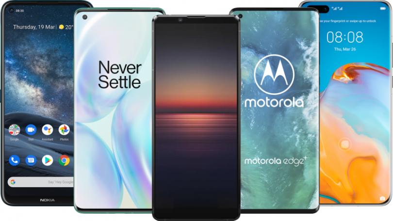 Disse telefoner understøtter 5G (juni 2020)