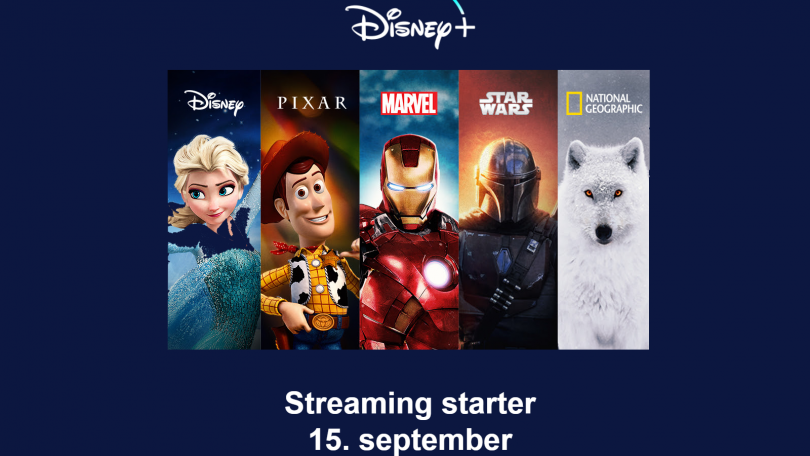 Streamingtjenesten Disney+ kommer til Danmark 15. september