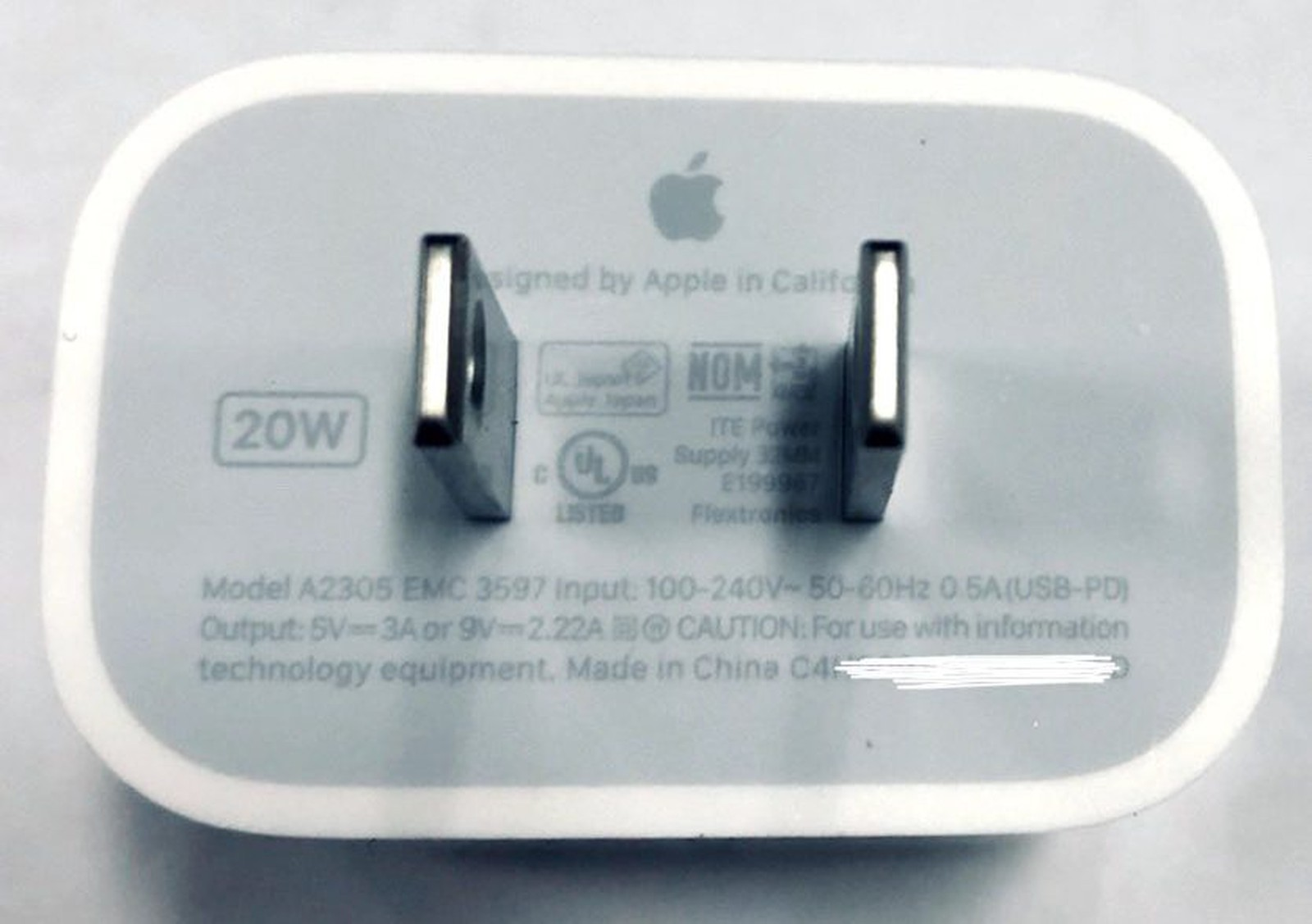 20W USB-C oplader Apple