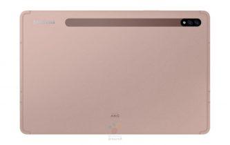 Samsung Galaxy Tab S7 på 11 tommer i farven Mystic Bronze