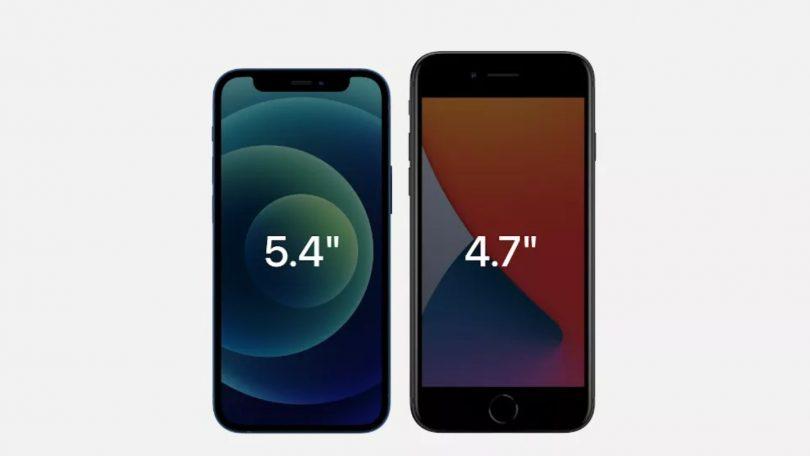 iPhone 12 Mini mod iPhone SE 2020 – Se forskellen