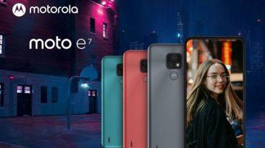 Motorola Moto e7 – stor skærm og batteri til billig pris