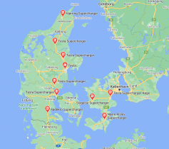 Tesla SuperCharger Danmark