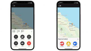 Nu kan du rapportere om uheld og fartkontroller i Apples Kort-app
