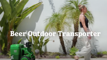 Heinekens robot køler øllene af mens den følger dig i hælene