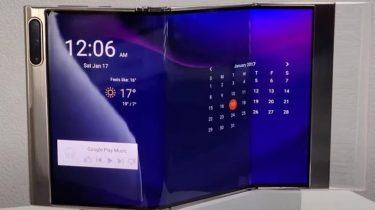 Video: Samsung viser dobbeltfoldet mobil i aktion