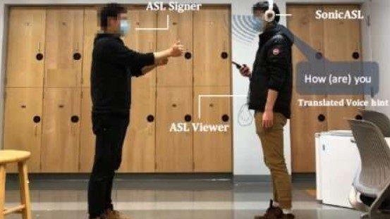 Forskere modificerer høretelefoner til at tolke tegnsprog