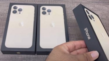 iPhone 13 Pro Max unboxing – se den flotte guldversion