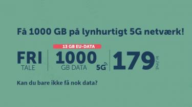 duka lancerer mobilabonnement med 5G og 1.000 GB data