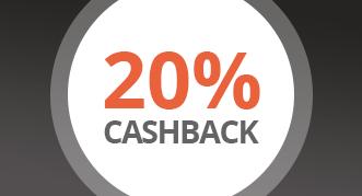 20% Cashback auf alle Produkte