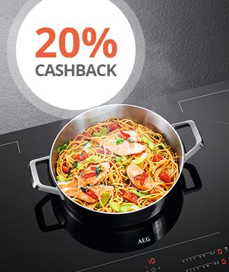 Kochfelder mit 20% Cashback