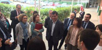 Visita consellera d'Ensenyament, Meritxell Ruiz