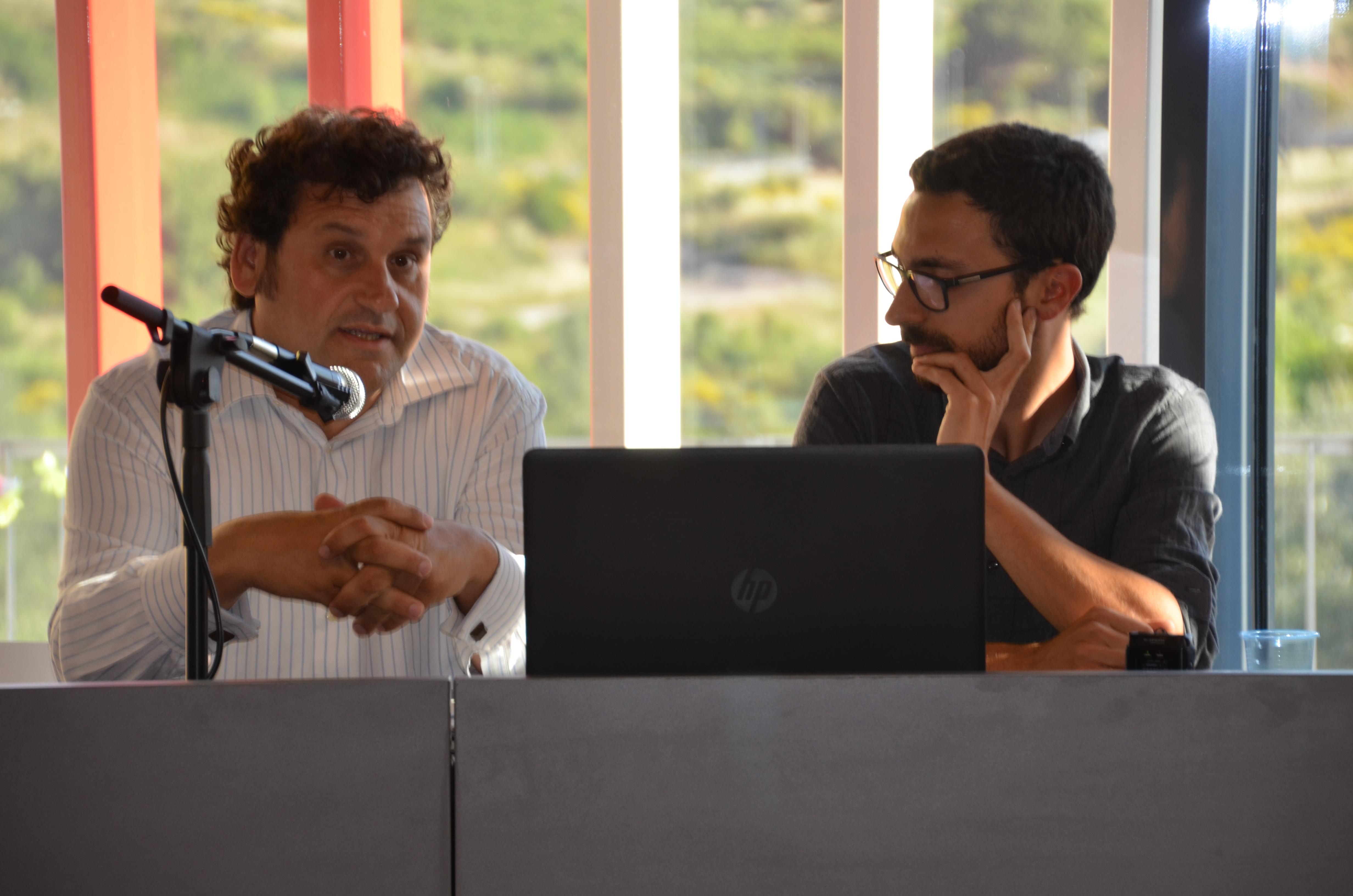 Adolf Bargués, regidor Medi Ambient, i Marc Rotllan, tècnic de de Planificació Energètica