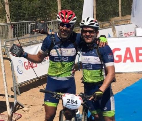 Antonio Corpas i José Luis Marín. Equip Prodigitalk Martorell. Guanyadors de la Gaes Titan Desert 2017