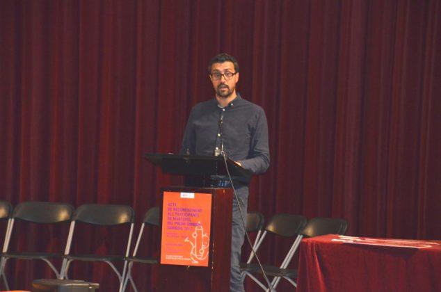 Reconeixement als participants locals del Premi Sambori. Jordi Gibert, president d'Òmnium Cultural Martorell
