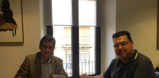 L'alcalde Xavier Fonollosa i el president AAVV Buenos Aires, Ignacio Blázquez