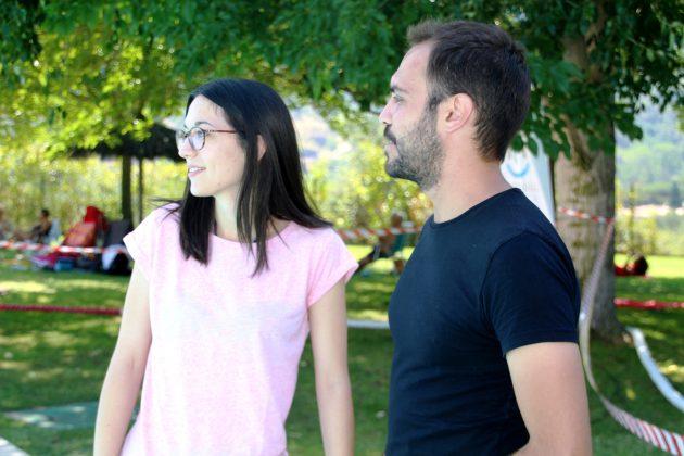 Belén Leiva, regidora d'Esports, i Oriol Franch, responsable CIES