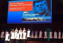 Escolania Montserrat a l'homenatge JF Kennedy. Foto: ccma