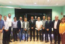 Trobada d'alcaldes per reclamar la finalització de les obres d'enllaç de l'A-2 amb l'AP-7