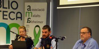 Albert López, Albert López, cap de policia de proximitat de l'ABP dels Mossos d'Esquadra de Martorell. Setmana de l'Alzheimer. AMA Martorell. Biblioteca Martorell