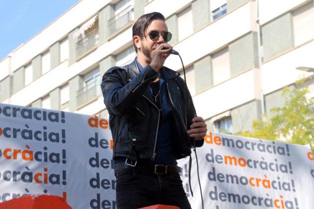 Crida per la democràcia. Acte d'Òmnium Cultural. Rambla de Les Bòbiles. Arnau Tordera