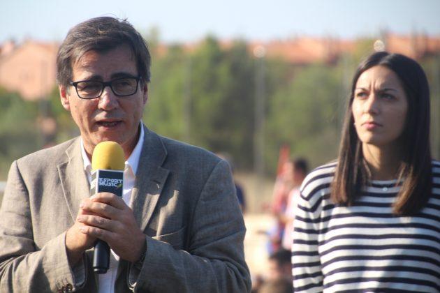 Xavier Fonollosa (alcalde de Martorell) i Belén Leiva (regidora d'Esports)