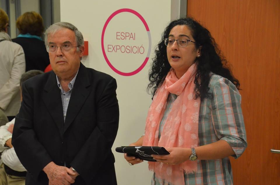 L'historiador Ferran Balanza i la regidora de Comunicació, Cooperació i Participació, Míriam Riera