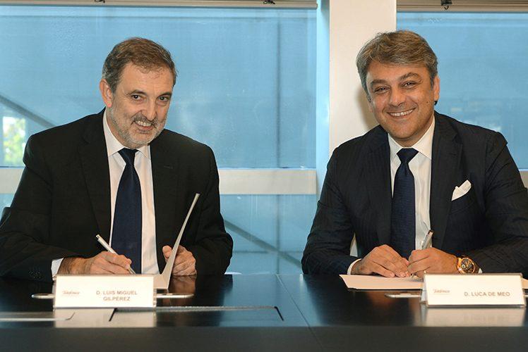 Els presidents de Seat i Telefónica Espanya, Luca de Meo i Luis Miguel Gilpérez