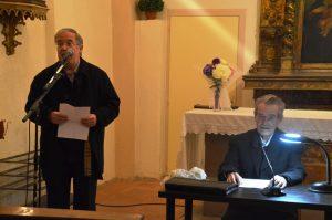 Ferran Balanza i Mossèn Josep Baucells. Capella de Sant Joan. Festes del Tiscar al barri del Pont del Diable