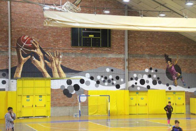 Acció al Pavelló Esportiu Municipal. IntARTvencions