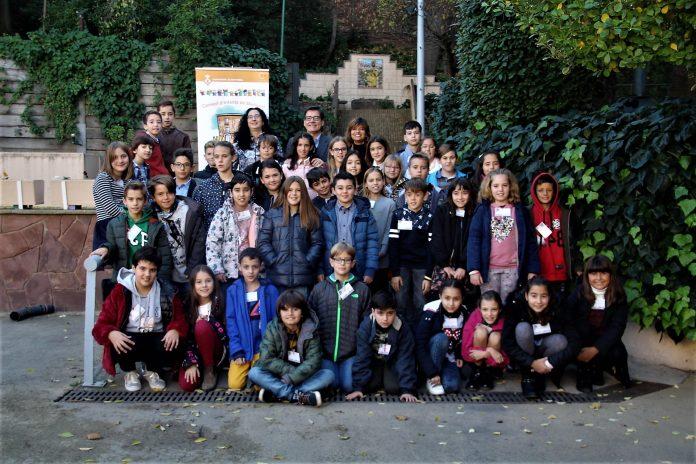 Fotografia de família del Consell d'Infants. El Progrés