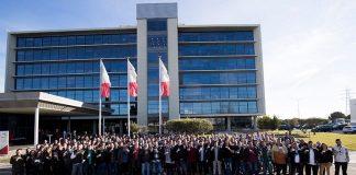 Imatge dels 150 treballadors que es van incorporar ahir a SEAT
