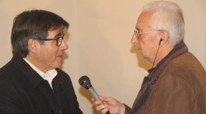L'alcalde Xavier Fonollosa i el locutor de Ràdio Martorell Cisco Sáenz de Pablo