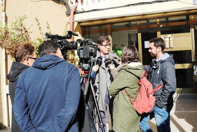 L'alcalde Xavier Fonollosa visita el lloc dels fets