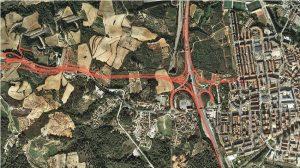 Plànol del desdoblament de la B-224 al pas per Martorell i Sant Esteve Sesrovires