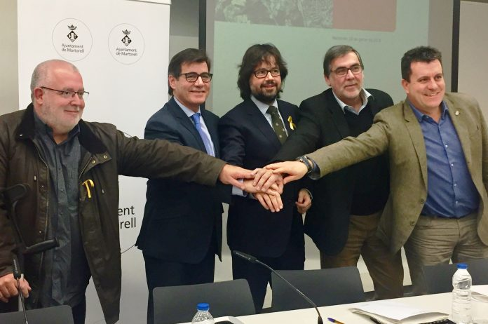 Xavier Boquete, Xavier Fonollosa, Ricard Font, Enric Carbonell i Josep Llopart